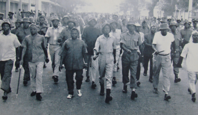 Arusha Declaration March; photo credit: www.juliusnyerere.info