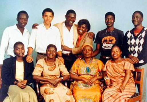 President Barack Obama with his Kenyan family (photo credit: Wikipedia.org).